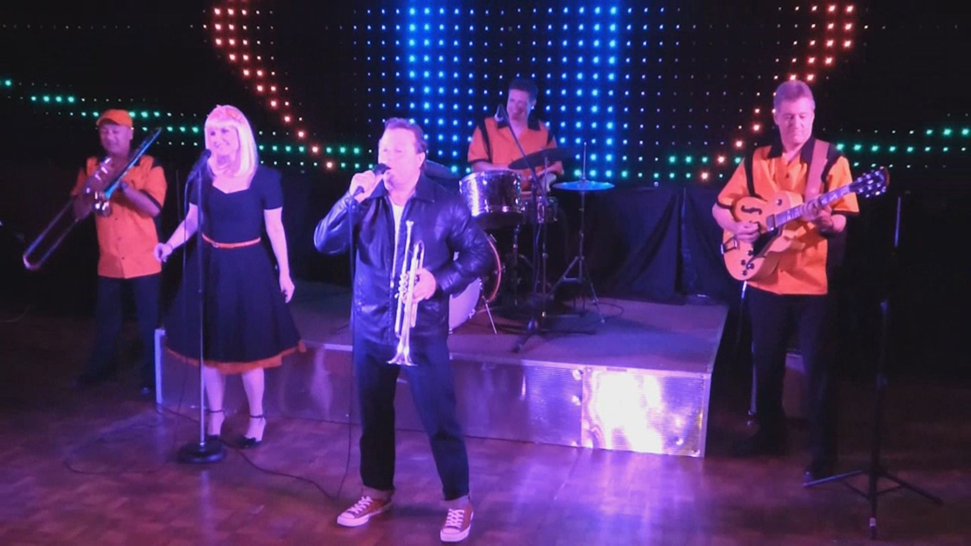 Throwback Decades Band performs music and costuming from the