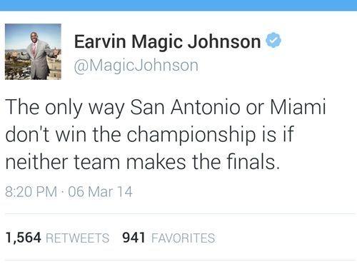 Image result for magic johnson tweet