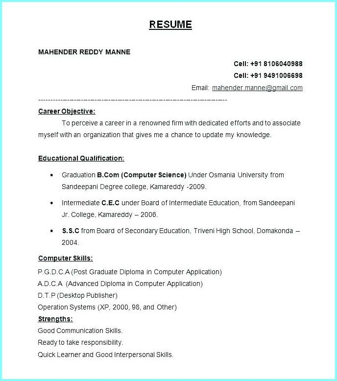 Word Resume Template 2007 from i.pinimg.com