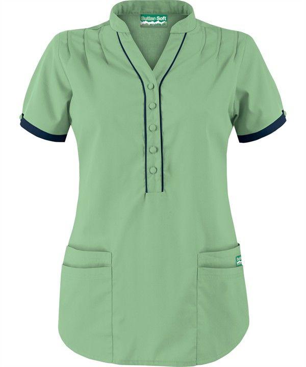 1f1452860f8 UA278C Butter-Soft Scrubs by UA™ Women's Mandarin Collar Four Pocket Scrub  Top in