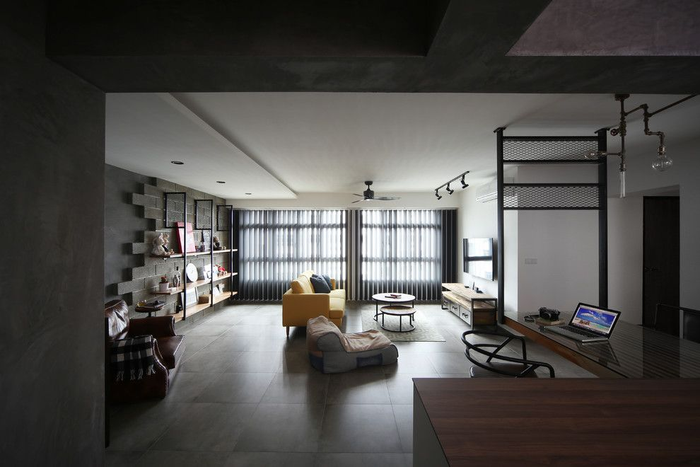 Inspiring industrial apartment situated in Singapore designed