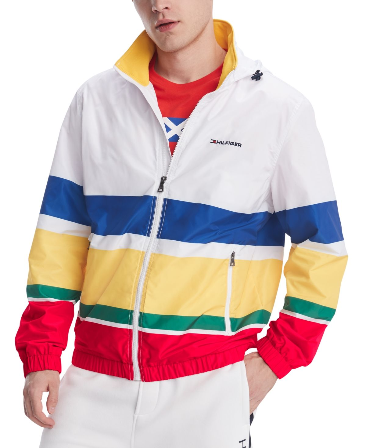 Tommy Hilfiger Men S Weekender Striped Water Resistant Yacht Jacket Bright White Pt In 2021 Tommy Hilfiger Man Tommy Hilfiger Mens Shirts [ 1467 x 1200 Pixel ]
