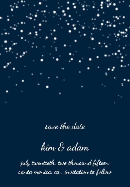 watercolor starry night wedding invites | starry night save the,
