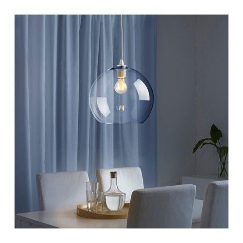 JAKOBSBYN Klosz lampy wiszącej szkło bezbarwne