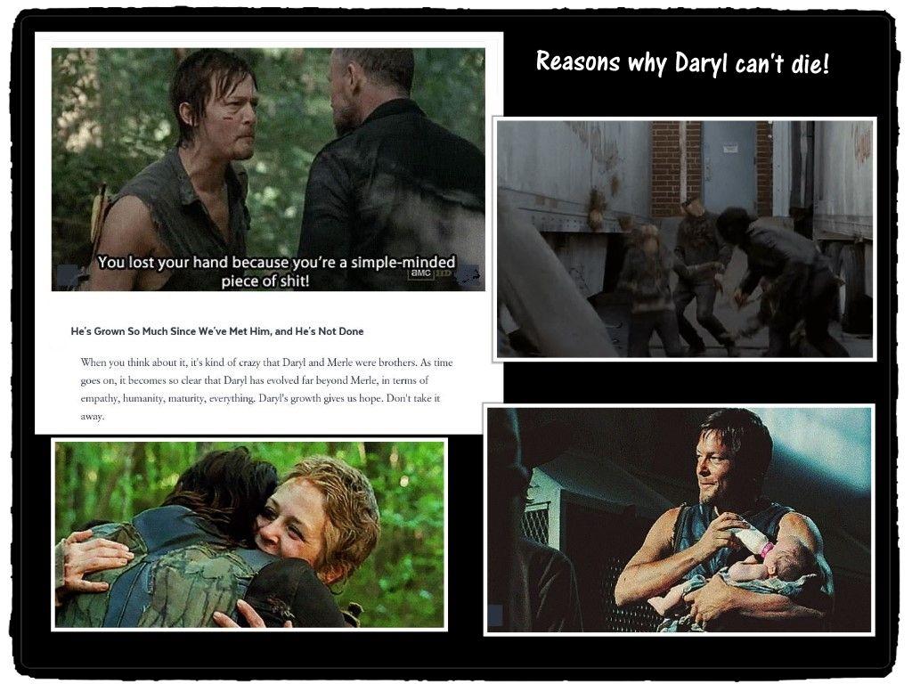 Reasons why Daryl can't die #TWD #thewalkingdead #amc #daryl