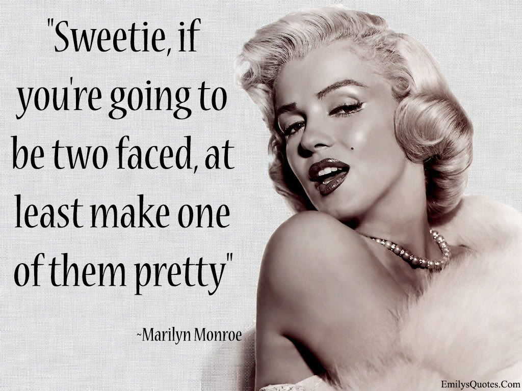 funny two faced character pretty Marilyn Monroe