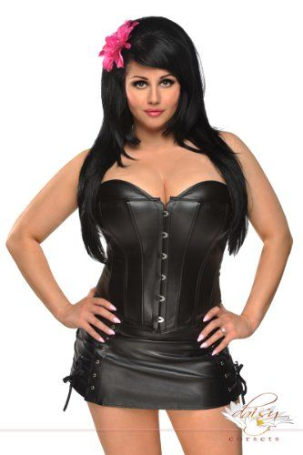Fashion Bug Womens Plus Size Leather Corset Skirt Set Www