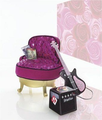 Oh wow: Amazon.com: Barbie Fashion Fever Rockin Guitar Chair Furniture: Toys & Games