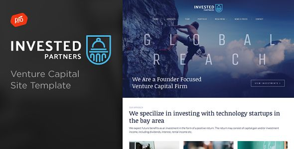 Invested Venture Capital Investment Site Template Website - Venture capital website template