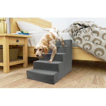 Precious Tails High Density Foam 5 Steps Pet Dog Stairs Walmart Com Pet Stairs Dog Stairs Dog Ramp