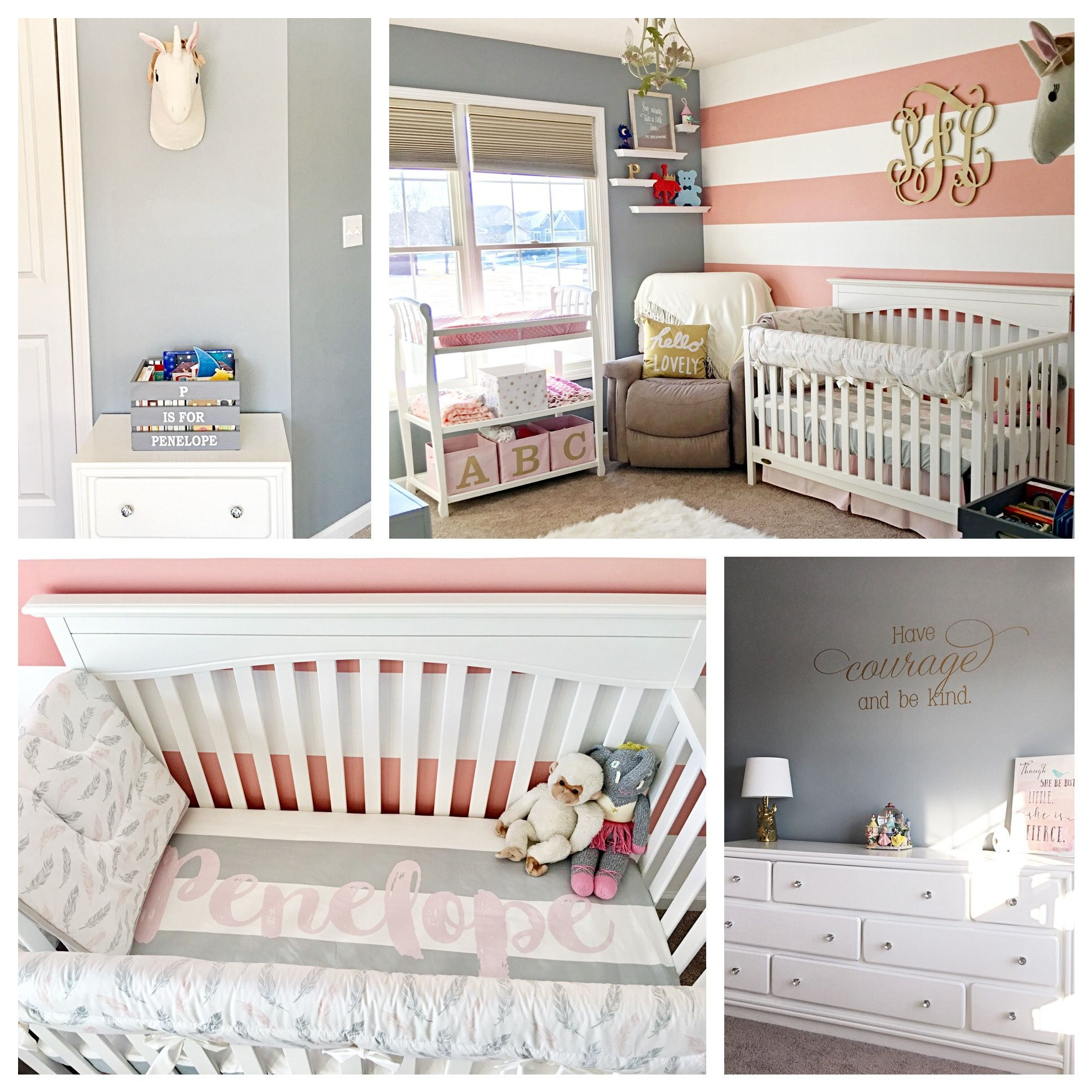 Pink, Gold, Grey Nursery