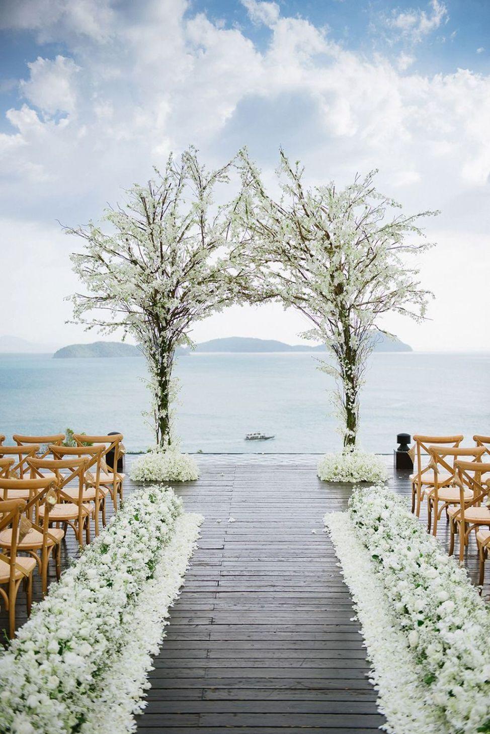 42 Beach Wedding Aisle Ideas Inspiration Trendfashioner