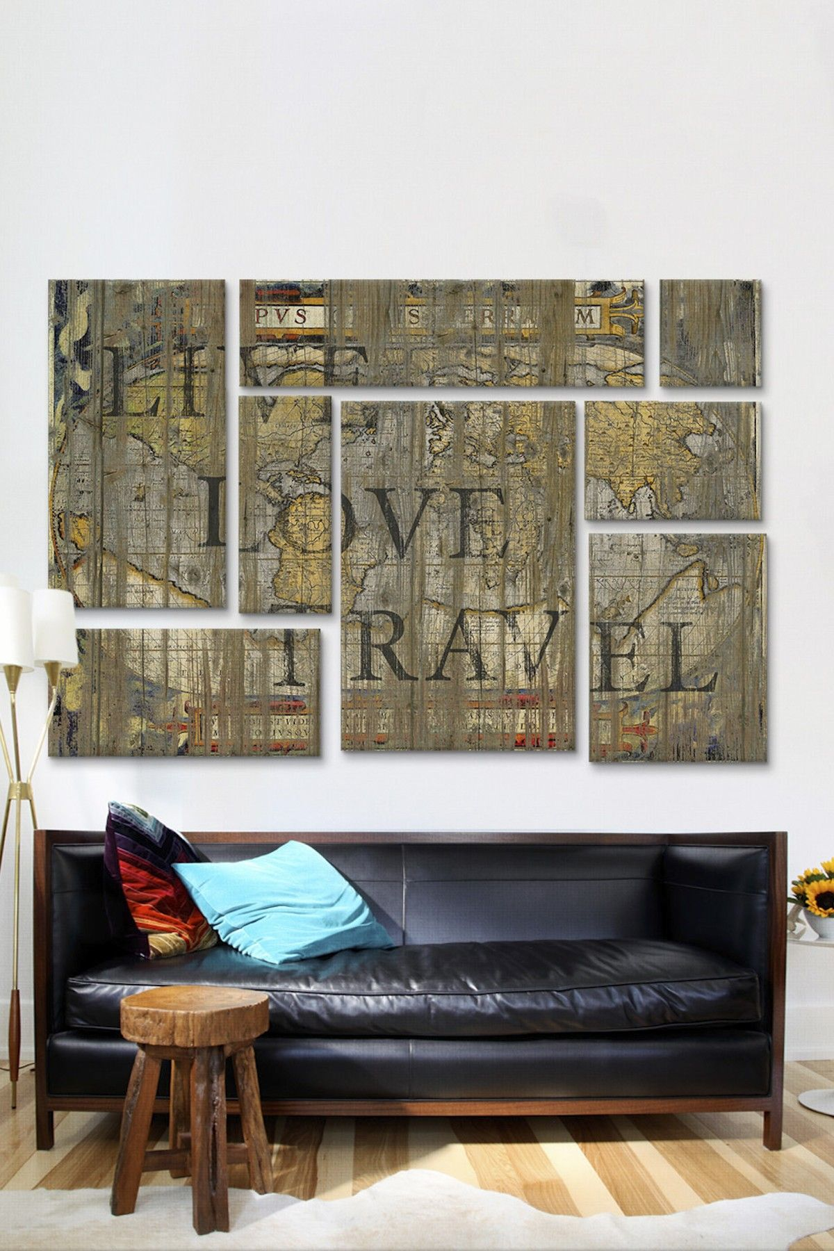 Live Love Travel 8 Panel Sectional Wall Art Hautelook