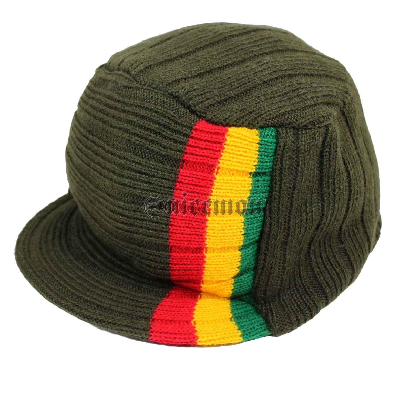 Roots Reggae Beanie Knit Cap Hat Kufi Rasta Surfer Hawaii Jamaica SMALL fit 72a2793f0237