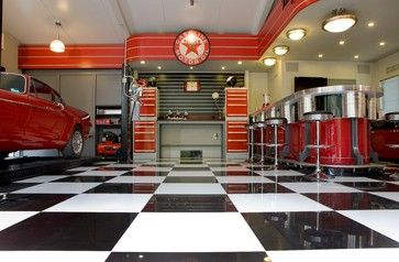 The Streamliner Garage   Industrial   Garage And Shed   Adelaide   Garage  Mahal   Custom Garage Interiors