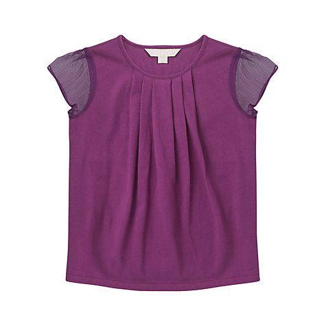 Buy Jigsaw Junior Girls' Chiffon Sleeve T-Shirt Online at johnlewis.com