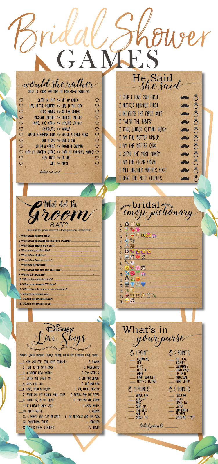 374aeabd787 Some of the most unique bridal shower ideas for 2018. Play these fun bridal  shower