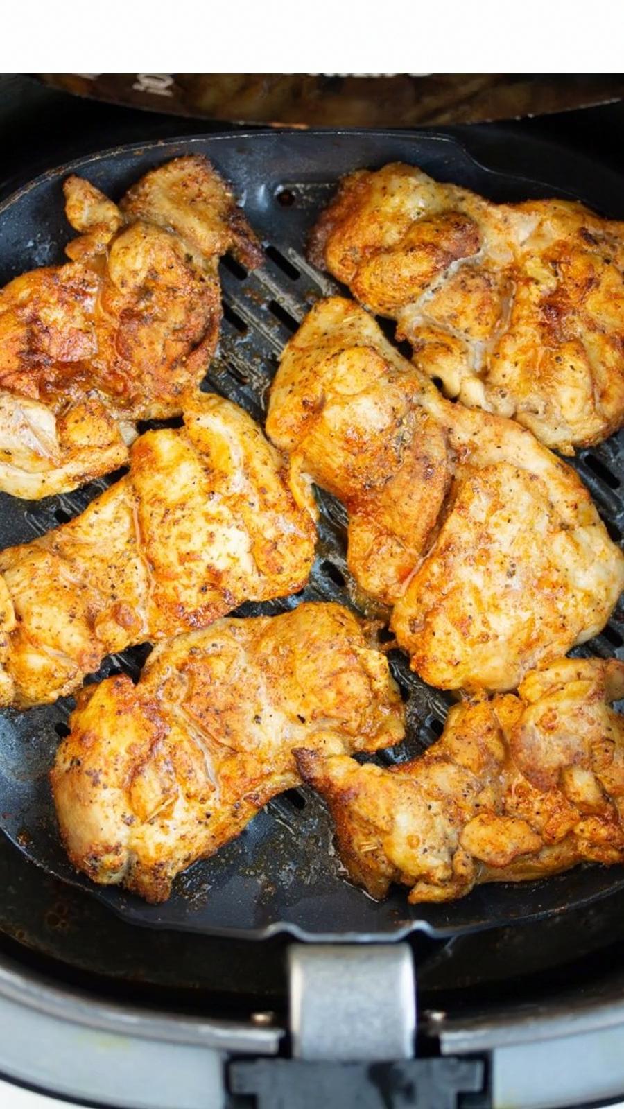 Lemon Pepper Air Fryer Chicken Thighs | Recipe | Air fryer ...
