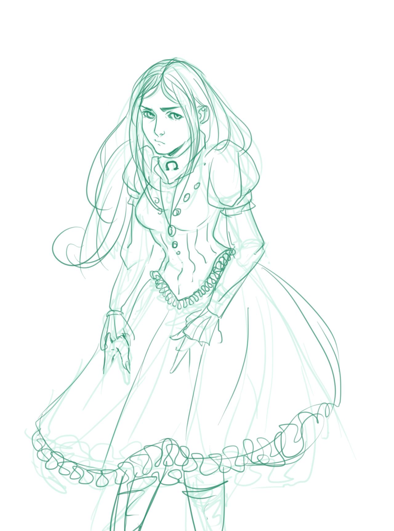 Алиса в стране кошмаров раскраска