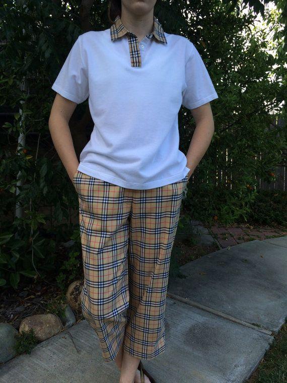 61189d51244 Reserved for Lenni     Vintage Ladies Burberry Golf Capri Pant Set ...
