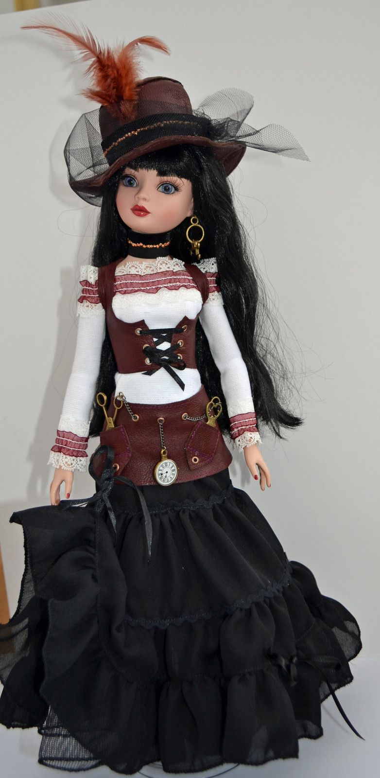 OOAK Handmade Steampunk Outfit for Ellowyne Wilde and friends