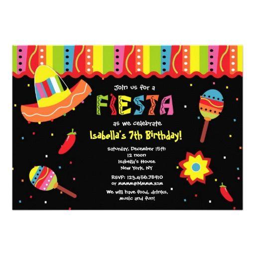 1c26f64e7b25 Mexican Fiesta Birthday Party Invitations