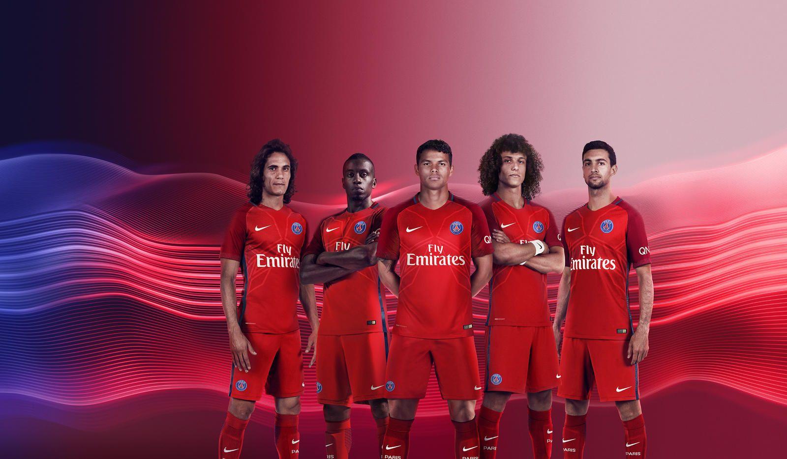 Camisas do PSG 2016-2017 Nike Reserva Vermelha