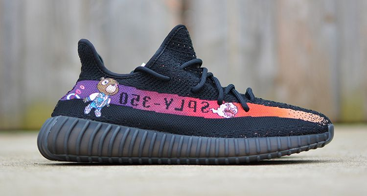 wholesale dealer aeece 2e567 adidas Yeezy Boost 350 V2 Graduation Custom by Kendras Customs   Nice Kicks