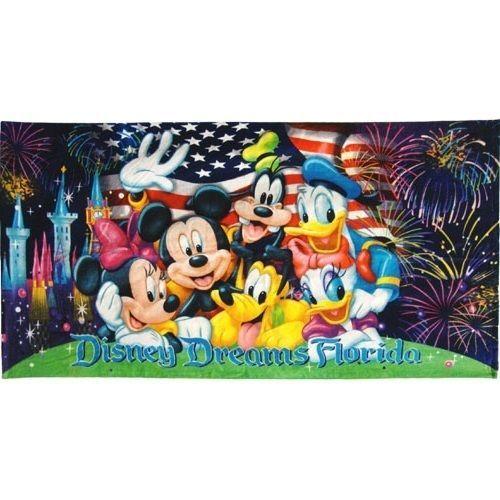 "Large Licensed Walt Disney World Fireworks Souvenir Beach Towels 30"" x 60"" #Disney"
