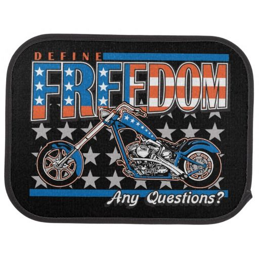 Rear Mats Define Freedom Motorcycle American Flag Cool Car Accessories American Flag Painting American Flag