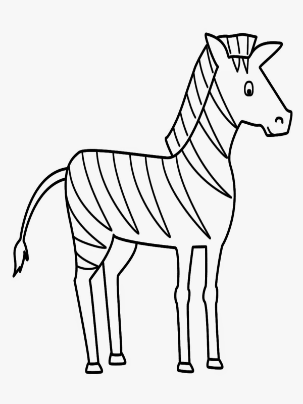 Zebra Pictures To Color