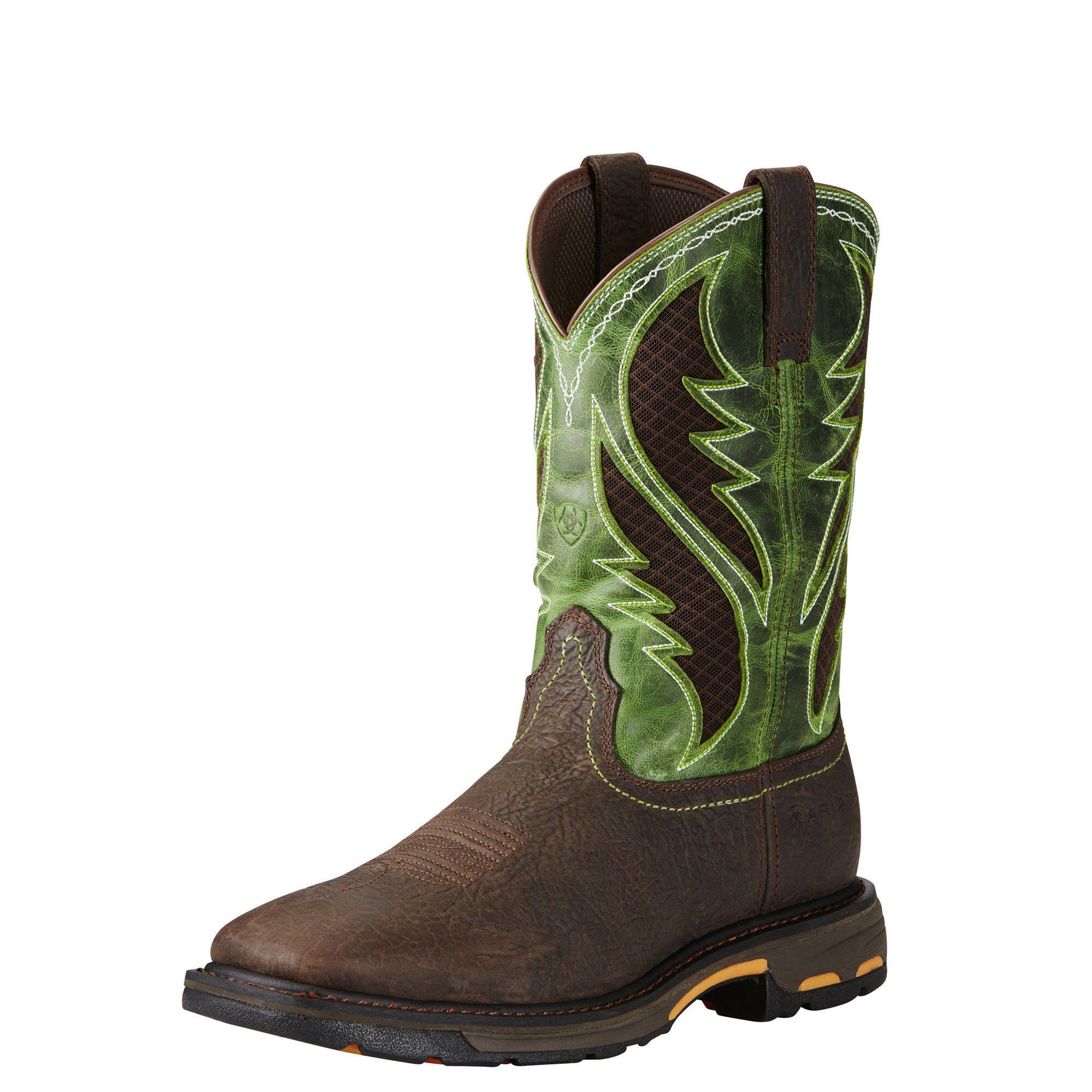 Workhog Wide Square Toe Venttek Work Boot Composite Toe Work Boots Work Boots Brown Work Boots
