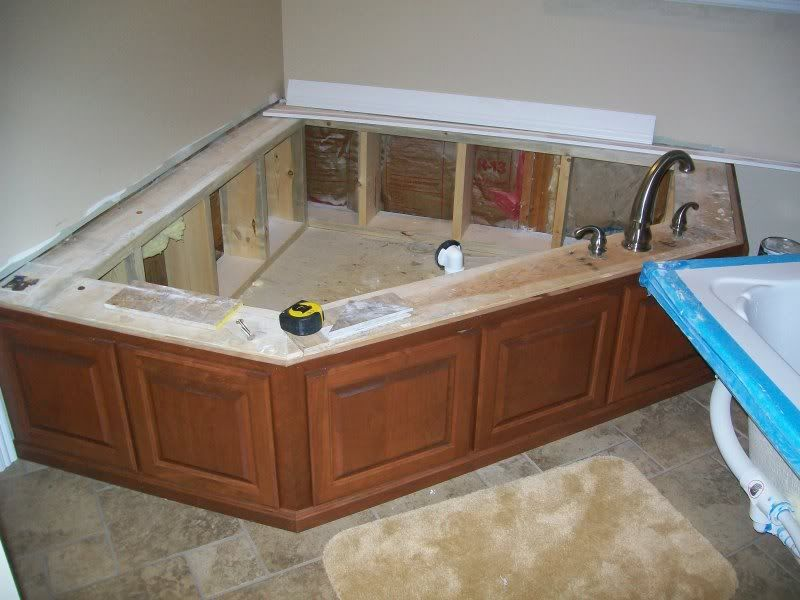 Bathroom Makeover Advice tub surround tiled, now need backsplash help. - ceramic tile