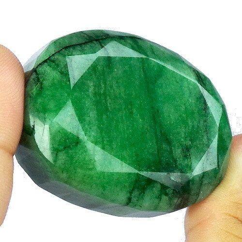 11 Carat Natural Oval Cut Brazilian Green Emerald Loose Gemstone Best Offer
