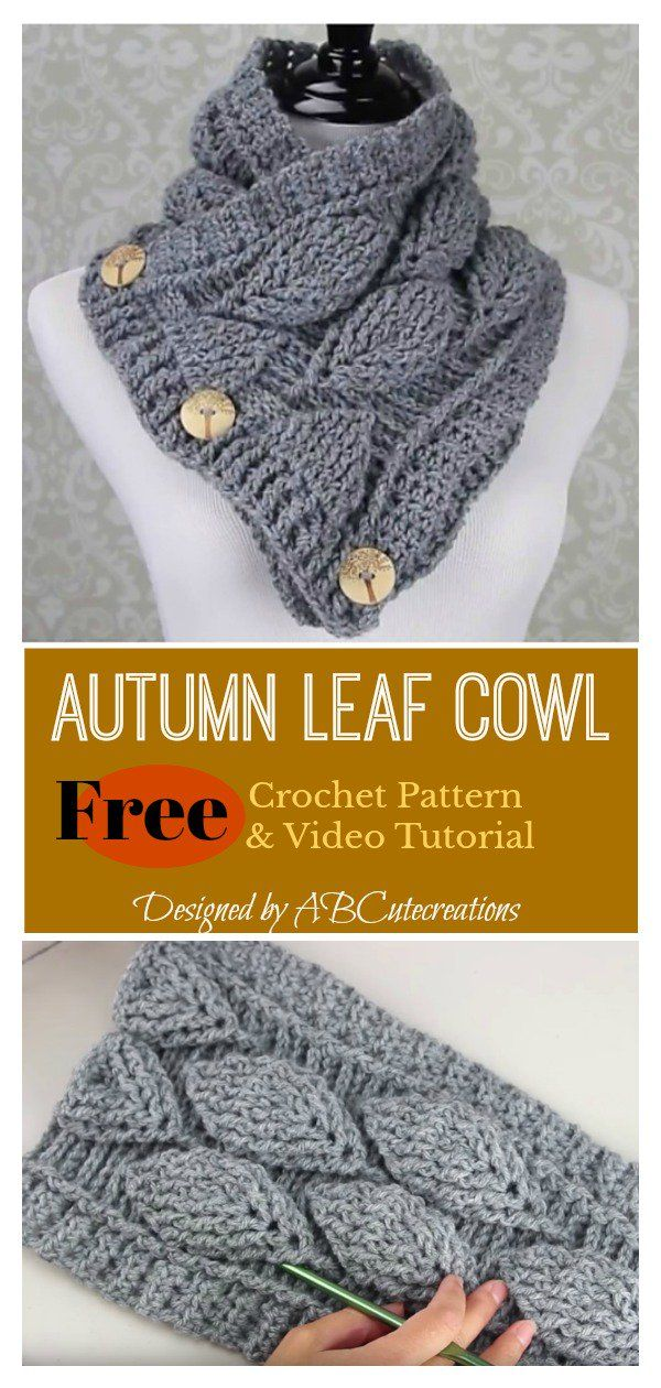 Autumn Leaf Cowl Free Crochet Pattern and Paid #crochetscarves