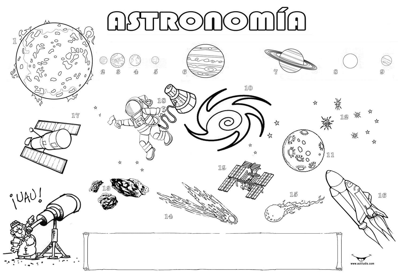 "Dibujos Para Colorear Del Sistema Solar: Astronomía: ""Sistema Solar"" - Actiludis"