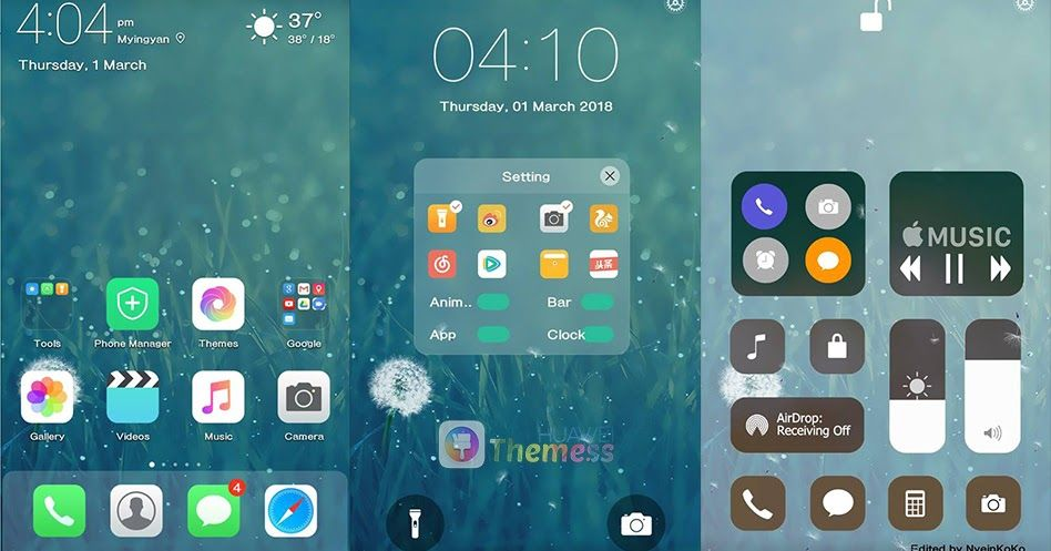Download IOS 11 Pro Theme for EMUI 5 0 8 0 Huawei Themes hwt, Tema