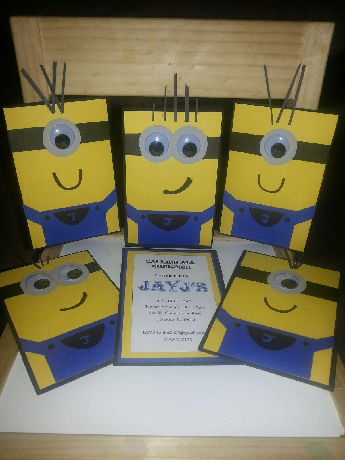 DIY Minion Birthday Invitations For My Nephews Birthday The One - Pinterest diy birthday invitation