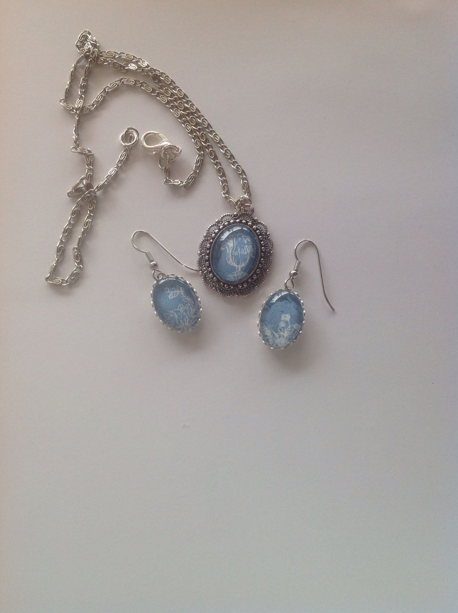 Setje in blauw en wit