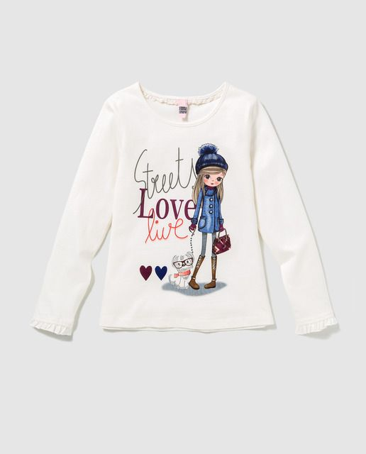 dea65e268 Camiseta de niña Freestyle en blanco con print · Freestyle · Moda · El  Corte Inglés