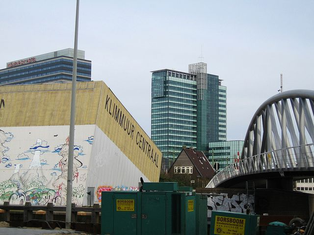 Amsterdam. Bridge, Tilted cube building. Graffiti, skyscraper | Flickr - Photo Sharing!