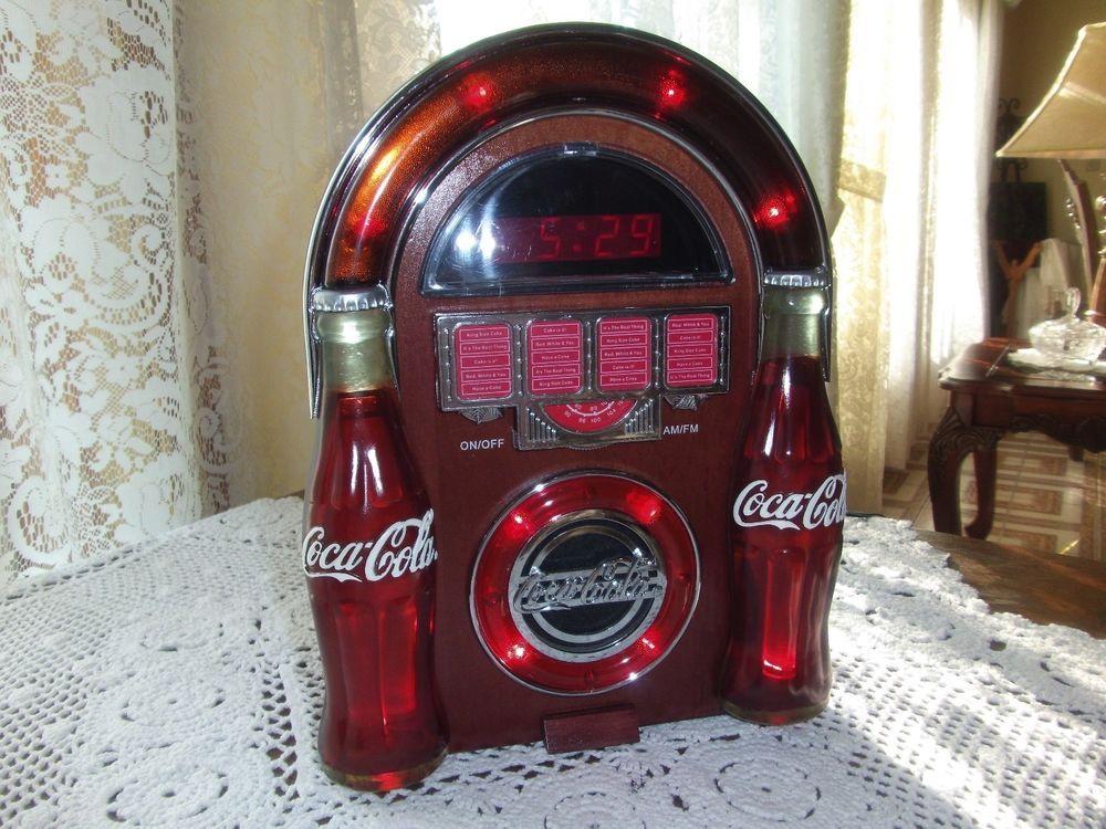 Kühlschrank Jukebox : Coca cola am fm jukebox radio and clock coke is it! pinterest