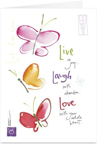 Live laugh love birthday greeting cards birthday greetings and life laughter love birthday greeting card by kathy davis m4hsunfo