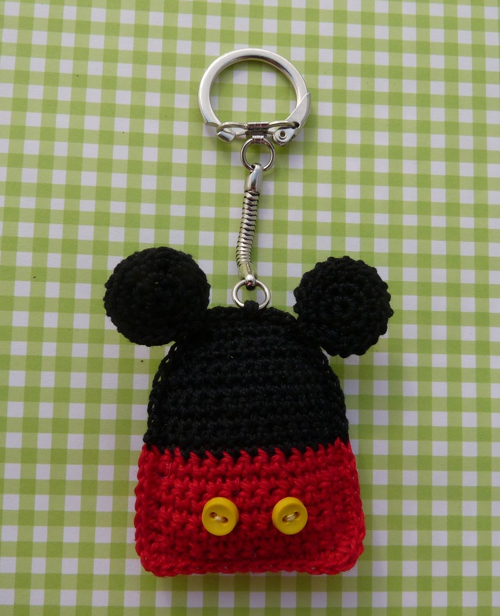 Free Mickey Mouse keyring or coaster pattern (click on link under ...