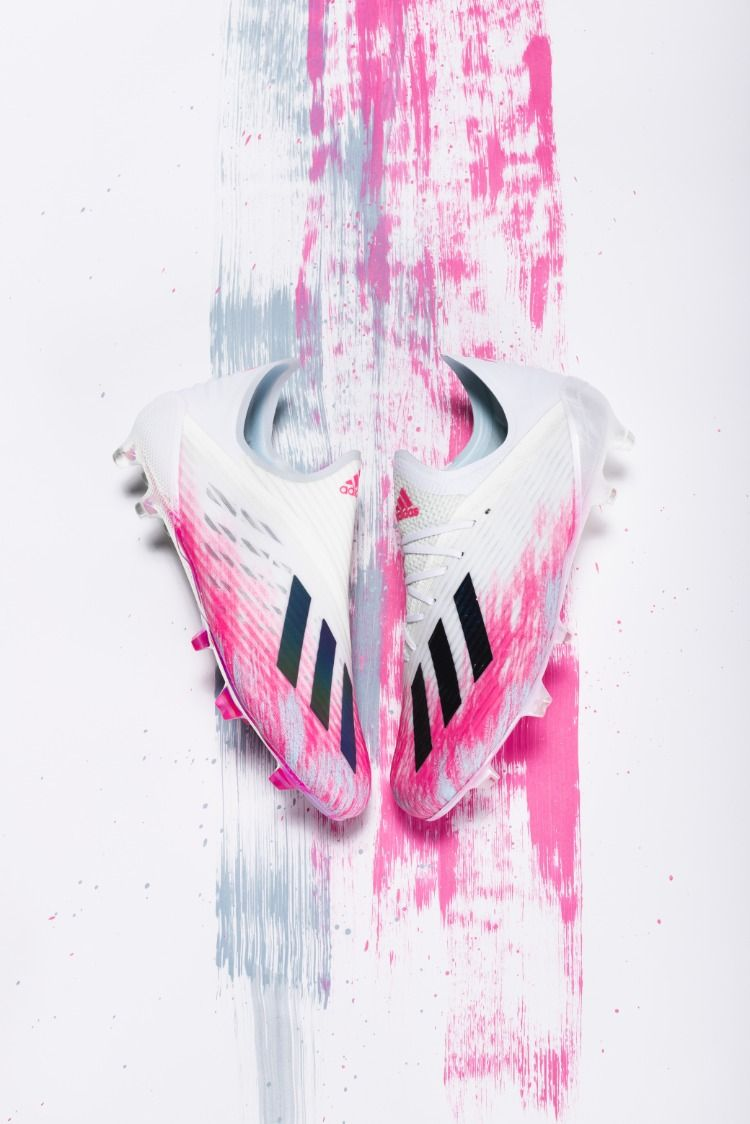 Adidas Uniforia X 19 Fg Soccer Cleats White Core Black Shock Pink In 2020 Soccer Cleats Cleats Adidas Cleats