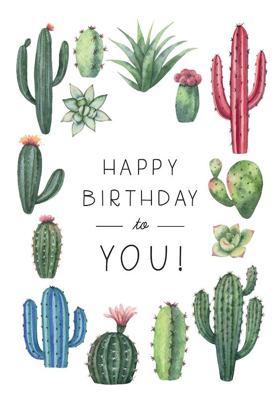 Cactus Birthday Birthday Card Free Greetings Island Happy Birthday Cards Printable Free Happy Birthday Cards Happy Birthday Printable