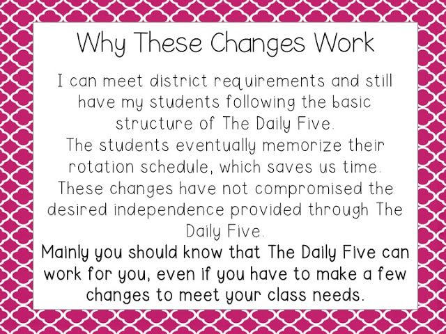 School Is a Happy Place: The Daily Five: Focus on Small Groups