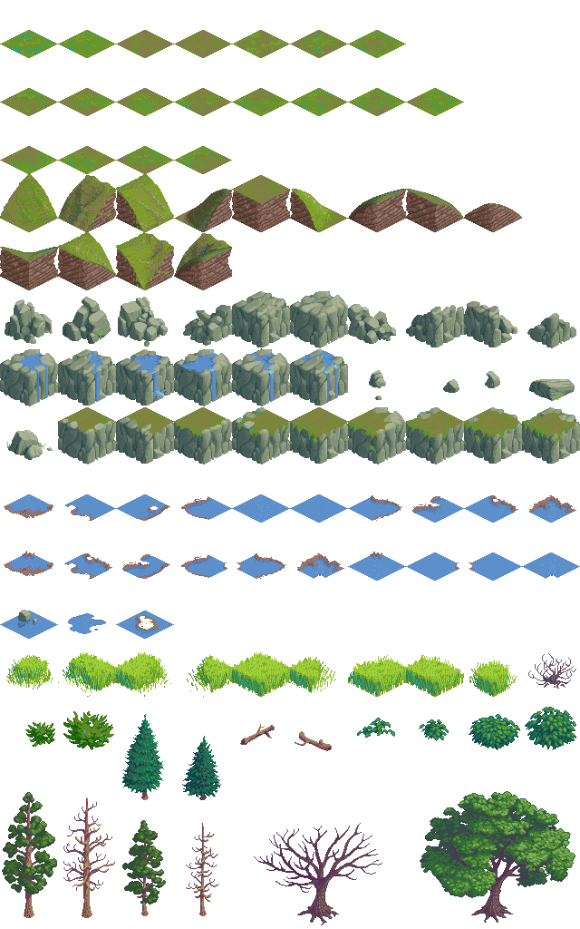 Game terrain tile tileset for working on the isometric game terrain tile tileset for working on the isometric variation of the tyukafo