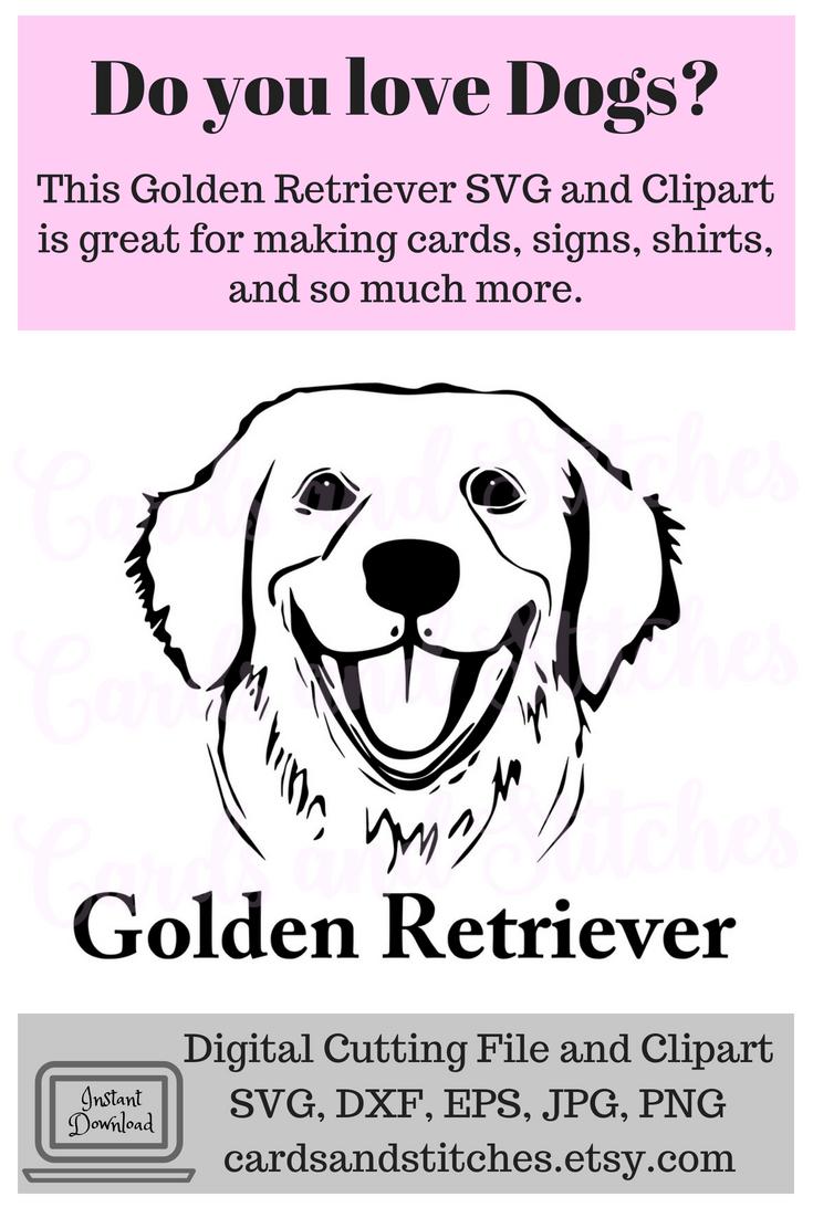 Golden Retriever Svg Golden Retriever Dog Breed Svg Instant