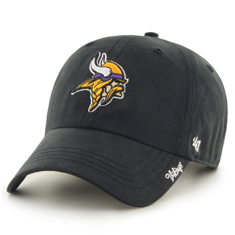 Women S 47 Black Minnesota Vikings Miata Clean Up Secondary Adjustable Hat In 2021 Adjustable Hat Minnesota Vikings Logo Dad Caps